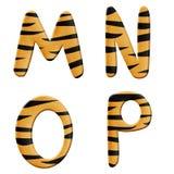 tigre de pièce de 4 alphabets Image stock