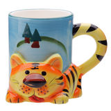 Tigre decorativo da caneca Fotos de Stock