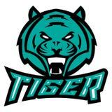 Tigre degli animali di logo illustrazione di stock