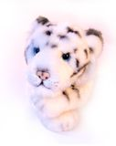 Tigre del blanco del juguete Fotos de archivo libres de regalías