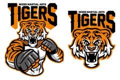 Tigre del combatiente del Muttahida Majlis-E-Amal stock de ilustración