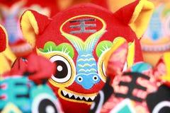 Tigre del paño de la artesanía del chino tradicional Foto de archivo