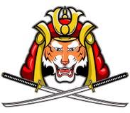 Tigre del samurai illustrazione vettoriale