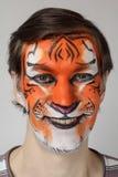 Tigre della pittura del fronte Fotografia Stock Libera da Diritti
