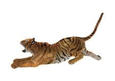 tigre della rappresentazione 3D su bianco Fotografia Stock Libera da Diritti