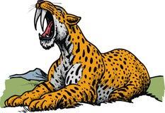 Tigre dentado do sabre - animal pré-histórico ilustração royalty free