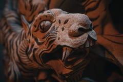 Tigre di pietra Fotografie Stock
