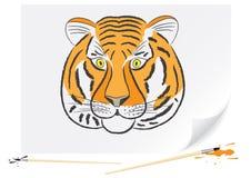Tigre do desenho Imagens de Stock Royalty Free