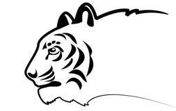 Tigre do vetor. Silhueta ilustração do vetor