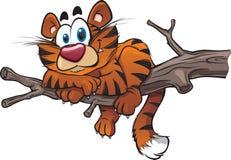 Tigre dos desenhos animados ilustração do vetor
