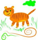 Tigre dos retalhos Ilustração Royalty Free
