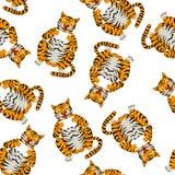 Tigre drôle sans couture de bande dessinée Images libres de droits