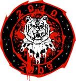 Tigre e toro Immagini Stock