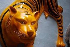 Tigre en el templo de Hau del estaño, bahía del terraplén, Hong-Kong Fotos de archivo