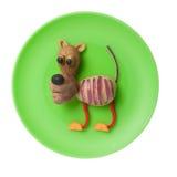 Tigre engraçado feito dos vegetais Fotografia de Stock