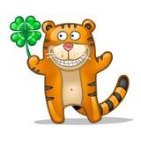 Tigre felice di divertimento Fotografie Stock Libere da Diritti