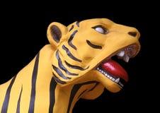 Tigre gialla Fotografie Stock Libere da Diritti