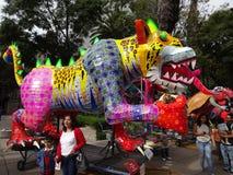 Tigre gigante en Ciudad de México Imágenes de archivo libres de regalías