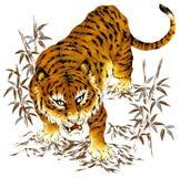 Tigre japonês ilustração royalty free