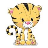 Tigre lindo de la historieta Fotos de archivo
