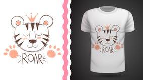 Tigre lindo - idea para la camiseta de la impresión libre illustration
