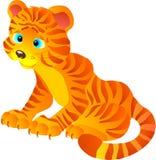 Tigre mignon de dessin animé. Illustration de vecteur   Images libres de droits