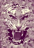 tigre monochrome illustration stock