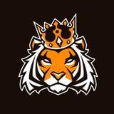 Tigre nella mascotte di vettore della corona royalty illustrazione gratis