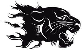 Tigre nera illustrazione vettoriale