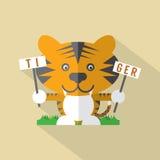 Tigre plat moderne de conception Photos stock