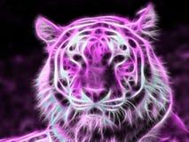 Tigre porpora al neon Fotografia Stock Libera da Diritti