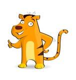 Tigre que mostra batidas acima Fotos de Stock Royalty Free