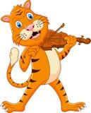 Tigre que toca su violín libre illustration