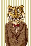 Tigre in rivestimento illustrazione vettoriale