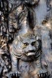 Tigre sculpté image libre de droits