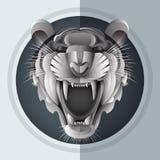 Tigre siberiana di ringhio illustrazione di stock
