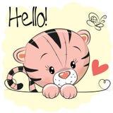 Tigre sveglia del disegno illustrazione vettoriale