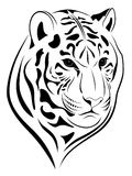 Tigre, tatouage Photo libre de droits