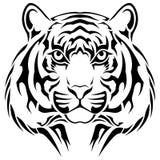 Tigre, tatuagem tribal Fotografia de Stock Royalty Free