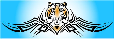 Tigre tribal Imagem de Stock Royalty Free