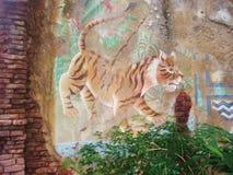 Tigre y texturas Fotografía de archivo libre de regalías