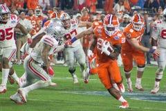 Tigres de Clemson del fútbol del NCAA en el cuenco de la fiesta Imagen de archivo