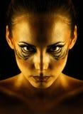 Tigresa de la muchacha Imagen de archivo