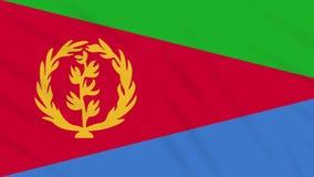 Tigrinya flag waving cloth background, loop. Tigrinya flag waving cloth, ideal for background, loop stock footage