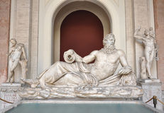 Tigris statue at Vatican Museums. Tigris statue from the 2nd century at the Vatican Museums royalty free stock images