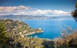 Tigullio Gulf near Portofino royalty free stock photos