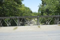 Tiguman most przy barangay Tiguman, Digos miasto, Davao Del Sura, Filipiny zdjęcie stock