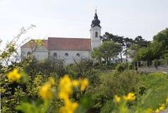 tihany修道院的教会 库存图片