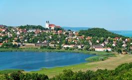 tihany匈牙利的横向 免版税库存图片
