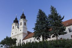 tihany abbey Royaltyfria Bilder